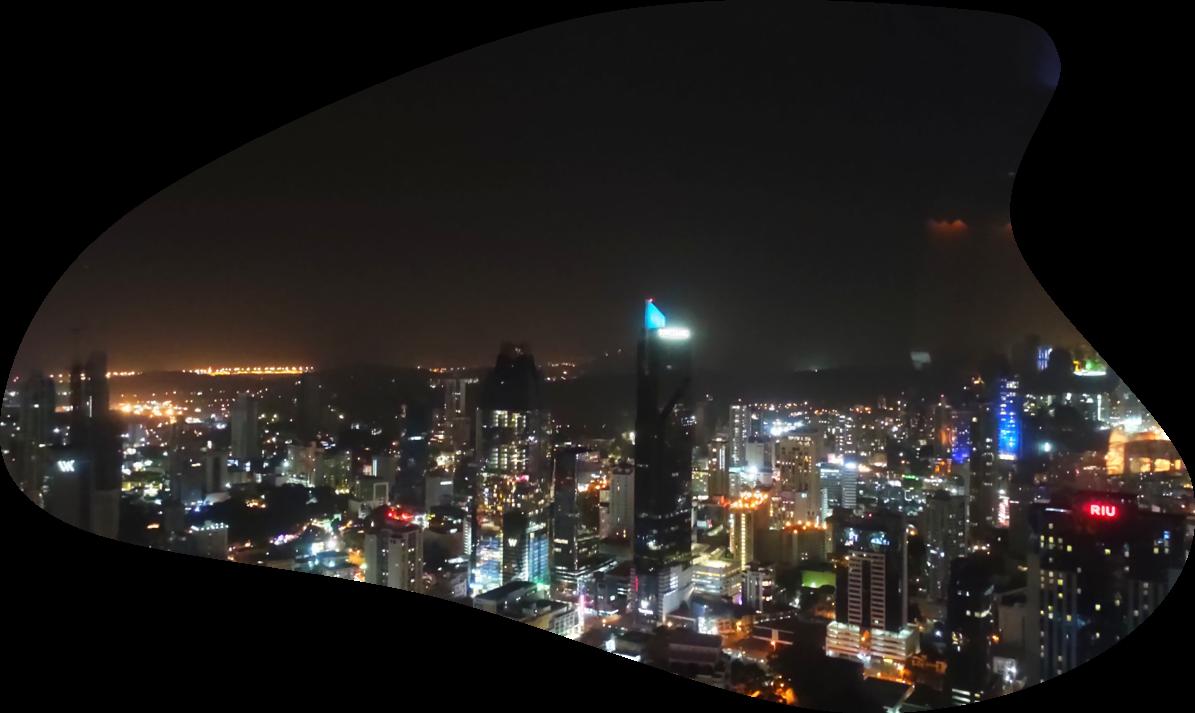 Utsikt från en takbar i Panama City